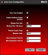 Dynojet Auto Tune Configuration Screen