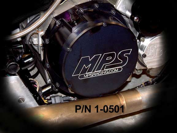 MPS Hayabusa Clutch Cover Installed