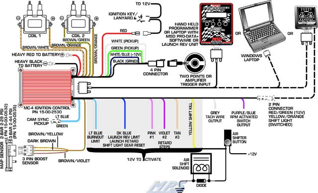 msd mc 4 digital ignition msd mc 4 wiring diagram
