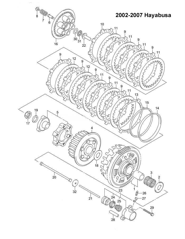 hayabusa engine diagram