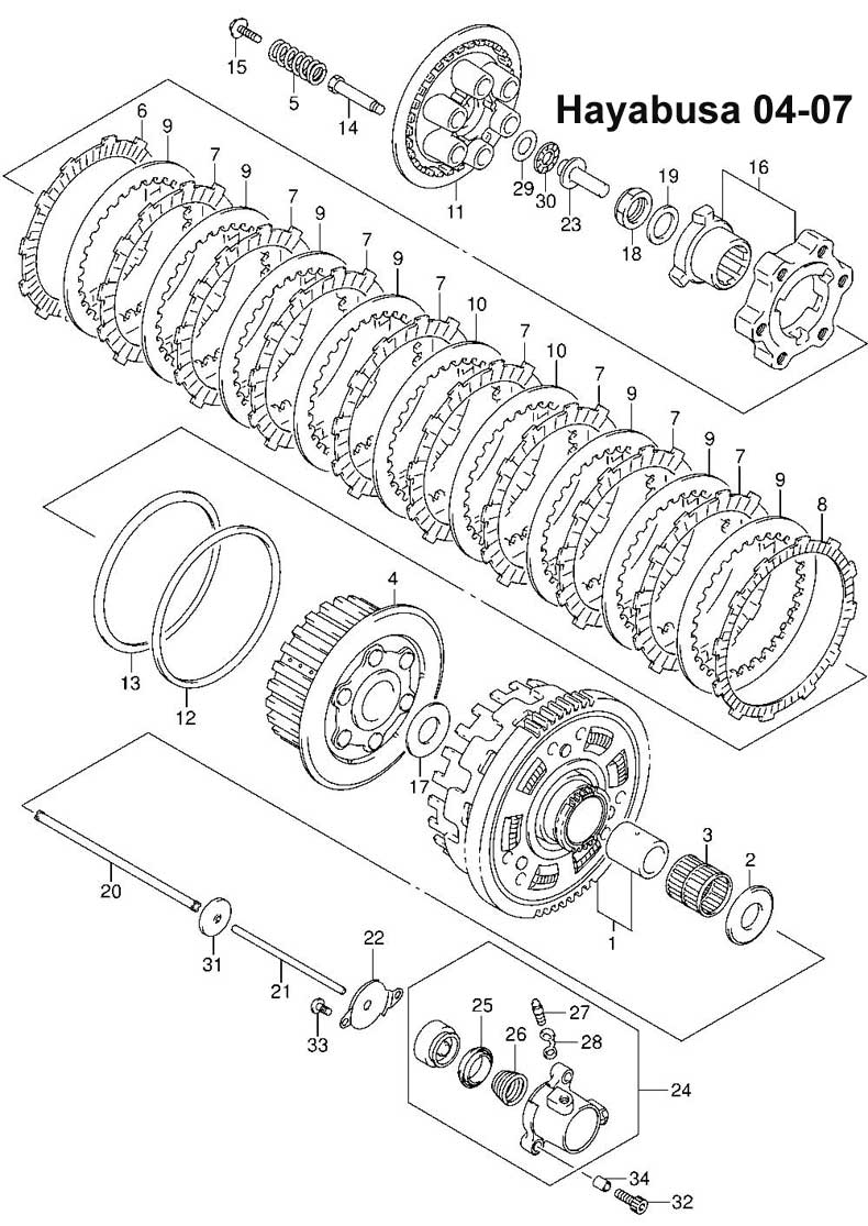 Hayabusa Clutch Diagram Trusted Wiring Suzuki Mps Racing Fiche 04 07 Rh Mpsracing Com Removal 2000