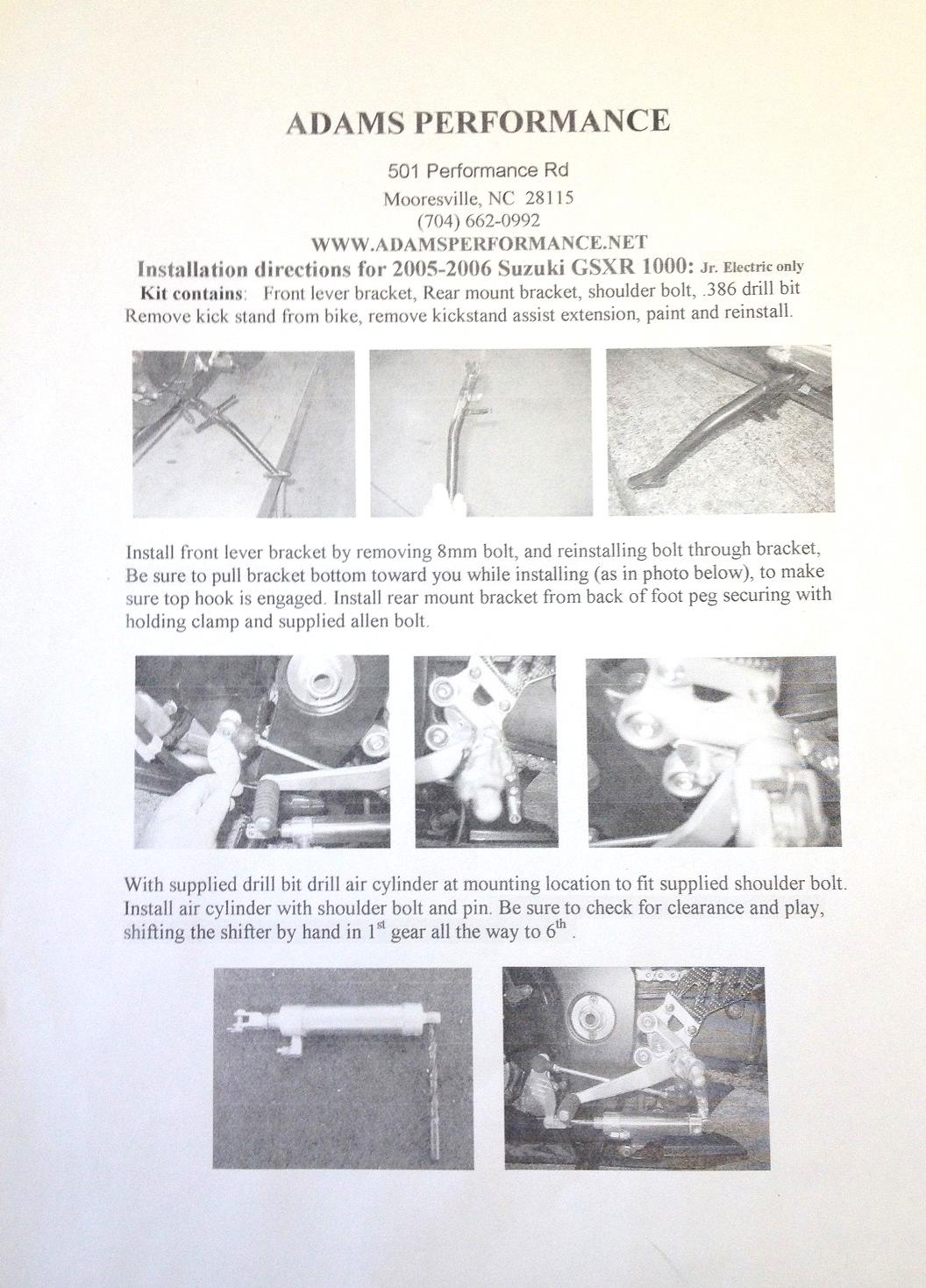 pingel shifter installation instructions